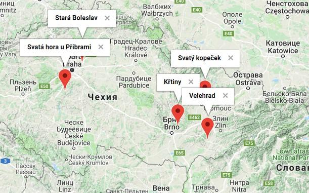 святі місця в чехії