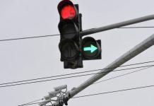 поворот праворуч на червоне світло